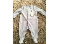 Baby grow sleepsuit blue BNWT 3 months