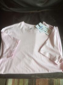 Mens pale pink slim fit t-shirt from Topman
