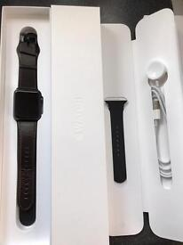 Apple watch ⌚️ series 1 Grey with black sports band
