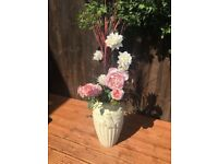 Artificial flowers with vase