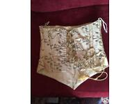 Gold embroidered bodice size 10
