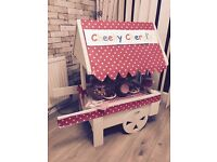 STUNNING SWEET CART FOR RENTAL. CAN BE DECORATED TO SUIT ANY OCCASION - CONTACT NATALIE 07786327433