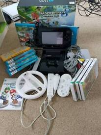 Nintendo Wii U Mario Cart 8 special edition 32gb ++++ games and accessories