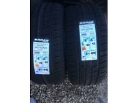 Two 225x40x18 tyres