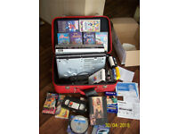 DVD/VIDEO MACHINE,DVD PLAYER,BLANK DVD'S,ORIGINAL VIDEOS-DISNEY,TEDDY RUXPIN,BLANK ,CLEANERS,