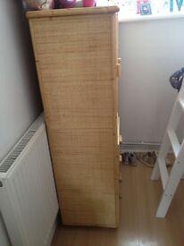 Kids bamboo wood wardrobe £40 E16