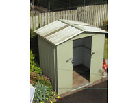 Garden shed-metal panels