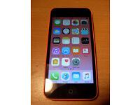 Apple iphone 5c 8Gb in Orange/Pink Locked to EE