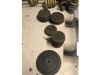 """1"""" Standard Weight Plates, £1/kg 1.25-20 available , limited quantity"""