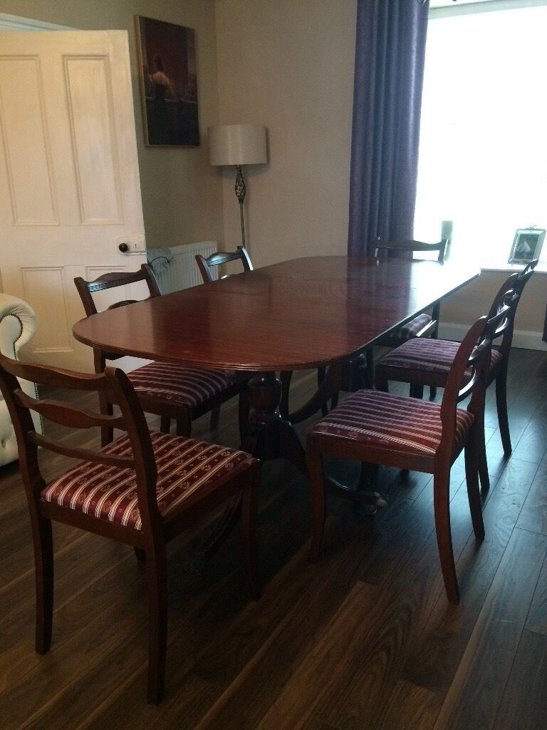 Vintage Extendable Dining Table Antique Extendable Dining Table And 6 Chairs In Magherafelt