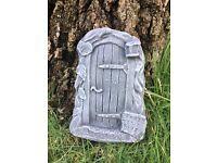 Stone fairy garden door garden ornament