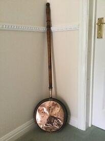 Antique copper warming pan