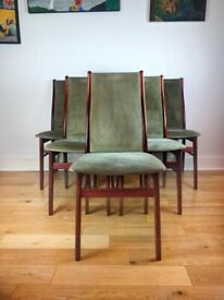 Mid Century Modern Farstup Rosewood Danish Six Dining Chairs FREE LOCAL DELIVERY