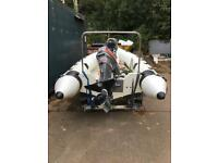 Speed boat Rimini 420 4.2 mtr rib 55hp mariner outboard