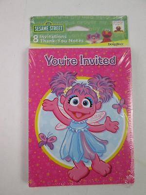 Abby Cadabby Sesame Street Birthday Party Invitations & Thank You Notes 8 PK NEW (Abby Cadabby Invitations)