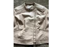 Size 24 brand new very pale pink biker jacket