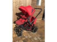 Jane Twone double pram buggy in excellent used condition