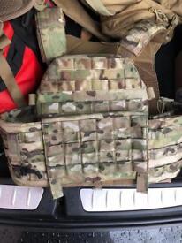 Warrior assault system plate carrier
