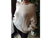 REISS jumper, off white/ cream, SIZE S, AS NEW