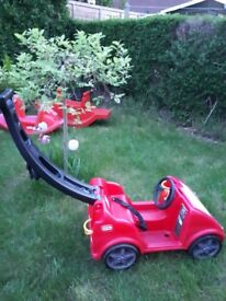 Little tikes baby children red car garden toy push along