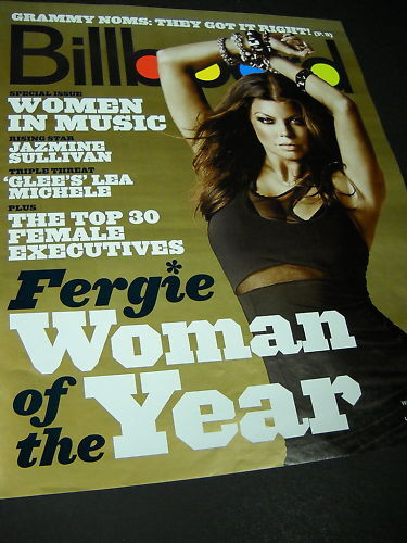 FERGIE Billboard Magazine Cover as PROMO POSTER AD - No Mailing Label - mint con