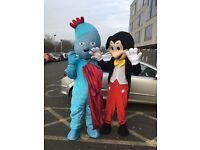 Batman - peppa pig-iggle piggle - Mickey Mouse - Minnie Mouse - mascots for hire