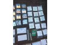 Electrical job lot sockets - back plates