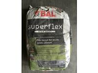 BAL Grey Superflex Wide Joint Grout in grey