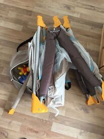 Perfect condition baby travelling cot with NEW mattress