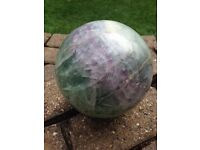 Display Specimen Fluorite Sphere (156mm / 6.1'' Diam, 6.2kg Weight)