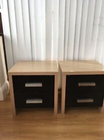 Two bedside draws £30 for both no offers