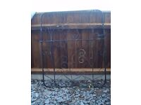 "Black Metal Gate Size 33"" wide x 40"" high"