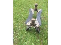 Antique camal saddle