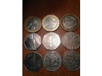 Collectable £2 and 50p coins