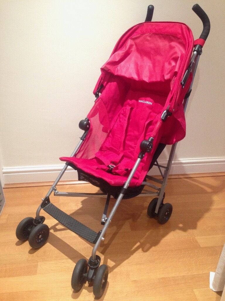 Maclaren Globetrotter Pushchair - Top condition incl raincover extra seatliner and travel bag