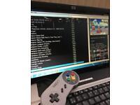 Arcade retro gaming laptop