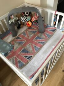 Wooden babydan playpen with mat