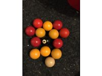 Pool balls complete set