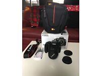 Canon EOS 1100D SLR Camera with EF-S 18-55 Lens with bag and original box & accessories