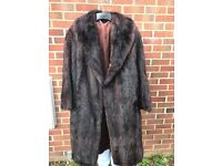 Ladies real mink fur coat/jacket colour brown