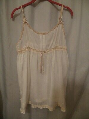 Free People Cotton Camisole - Free People Intimately White Cotton Baby Doll Cami Top L NEW