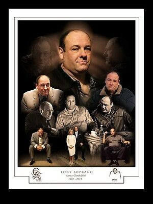 TONY SOPRANO James Gandolfini 1961 - 2013 Artist Montage