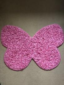 New next pink butterfly rug mat carpet
