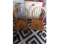 Ercol Windsor chairs x 2