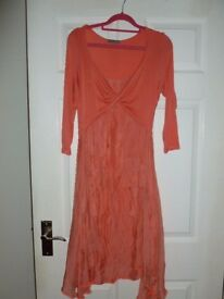 Beautiful coral ladies dress size 10/12 (never worn)