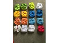 15 wonderoos washable nappies unused