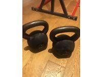 2 x 24kg Neoprene coated Kettlebells (Individual or as pair)