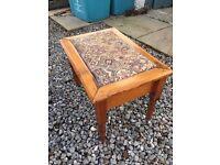 Upholstered pine foot stool