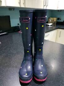 Size 4 Joules Wellies nearly new