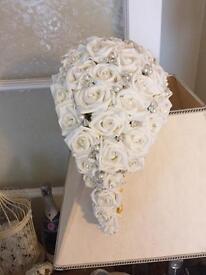 Bride artificial bouquet with diamontes